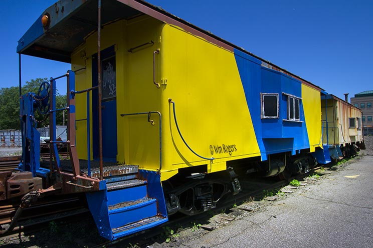 colorfol railroad cars